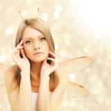 Beautiful woman - abstract fantasy Stock Photos
