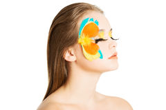 Beautiful woman with abstract make up. Stock Images