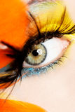 Beautiful woman with abstract make up. Royalty Free Stock Photos