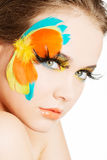Beautiful woman with abstract make up. Royalty Free Stock Images
