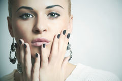 Beautiful woman.accessories.manicure stock photo