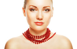 Beautiful woman with accessorize on neck Royalty Free Stock Photos