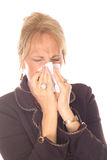 Beautiful woman with allergies. Shot of a beautiful woman with allergies Royalty Free Stock Image