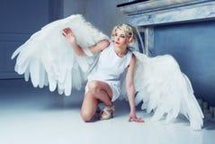 Beautiful woman angel Stock Photo