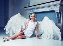 Beautiful woman angel Stock Photography
