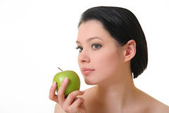 Beautiful woman with apple Royalty Free Stock Photo
