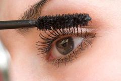 Beautiful woman applying mascara Royalty Free Stock Image