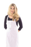 Beautiful woman in apron Stock Image