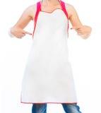 Beautiful woman in apron Stock Image