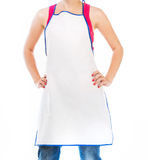 Beautiful woman in apron Stock Photos