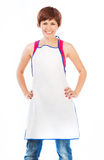 Beautiful woman in apron Royalty Free Stock Photos