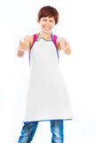 Beautiful woman in apron Royalty Free Stock Photography