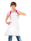 Beautiful woman in apron Stock Images