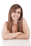 Beautiful Woman with arms crossed Royalty Free Stock Photography