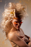 Beautiful woman. Art. Face Stock Images