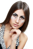 Beautiful woman with art make up Stock Images