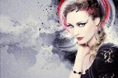 Beautiful Woman Artwork stock photo