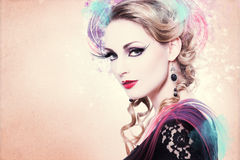 Beautiful Woman Artwork Stock Image