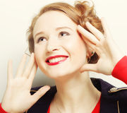 Beautiful woman with attractive tooth Royalty Free Stock Photography