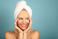 Beautiful  Woman Awaiting Spa Treatment Royalty Free Stock Photos