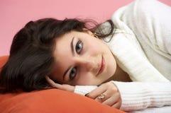 Beautiful woman awakening Stock Images