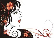 Beautiful Woman Background Stock Images