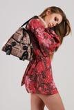 Beautiful woman with bag Royalty Free Stock Photos