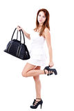Beautiful woman with a bag Royalty Free Stock Images