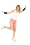 Beautiful woman balancing pose Royalty Free Stock Photos