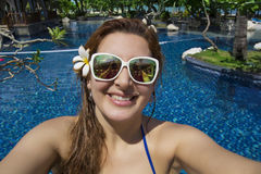 Beautiful Woman in Bali ,Indonesia. Royalty Free Stock Images