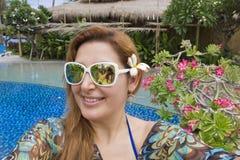 Beautiful Woman in Bali ,Indonesia. Royalty Free Stock Photography