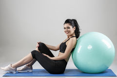 Beautiful woman with a ball Royalty Free Stock Photos