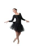 Beautiful woman ballet dancer standing pose Stock Image