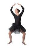 Beautiful woman ballet dancer standing pose Stock Photography