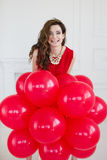 Beautiful woman with balloons. Royalty Free Stock Images