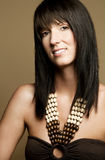 Beautiful woman with bangs Royalty Free Stock Image