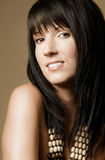Beautiful woman with bangs Stock Photo
