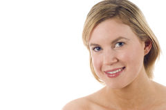 Beautiful Woman with Bare Shoulders Stock Image