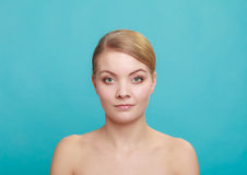 Beautiful woman with bare shoulders Royalty Free Stock Image