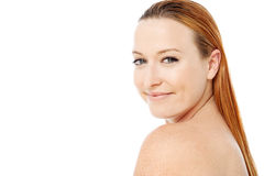 Beautiful woman with bare shoulders Royalty Free Stock Photo