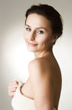 Beautiful Woman in Bath Towel Royalty Free Stock Photo