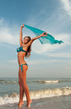 Beautiful woman in a bathing suit Stock Photo