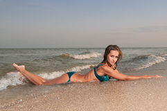 Beautiful woman in a bathing suit Royalty Free Stock Photo