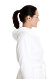 Beautiful woman in bathrobe Royalty Free Stock Images
