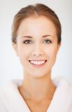 Beautiful woman in bathrobe Royalty Free Stock Image