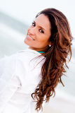 Beautiful woman at the beach Royalty Free Stock Photography