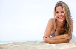 Beautiful woman at the beach Royalty Free Stock Photos