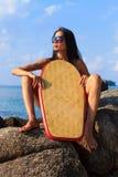 Beautiful woman on the beach. Royalty Free Stock Image