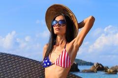 Beautiful woman on the beach. Royalty Free Stock Photos