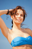 Beautiful woman on a beach Royalty Free Stock Photography